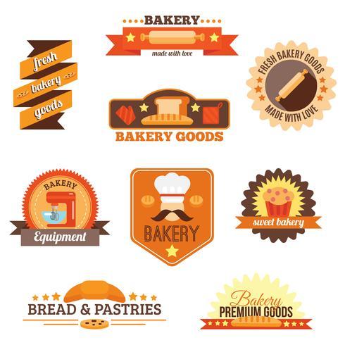 Bäckerei-Label-Set