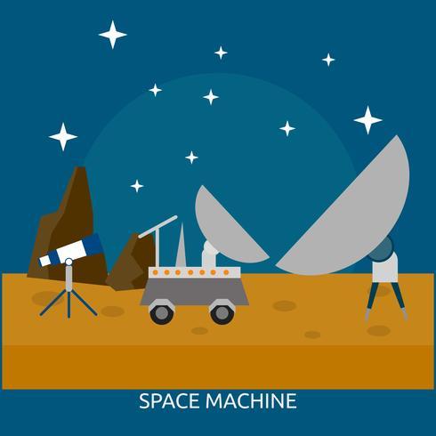 Space Machine Conceptuel illustration Design vecteur