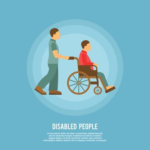 Cartaz de pessoa com deficiência