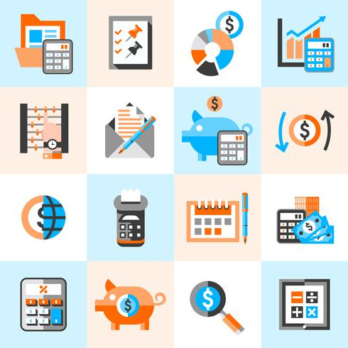 Conjunto de iconos de contabilidad