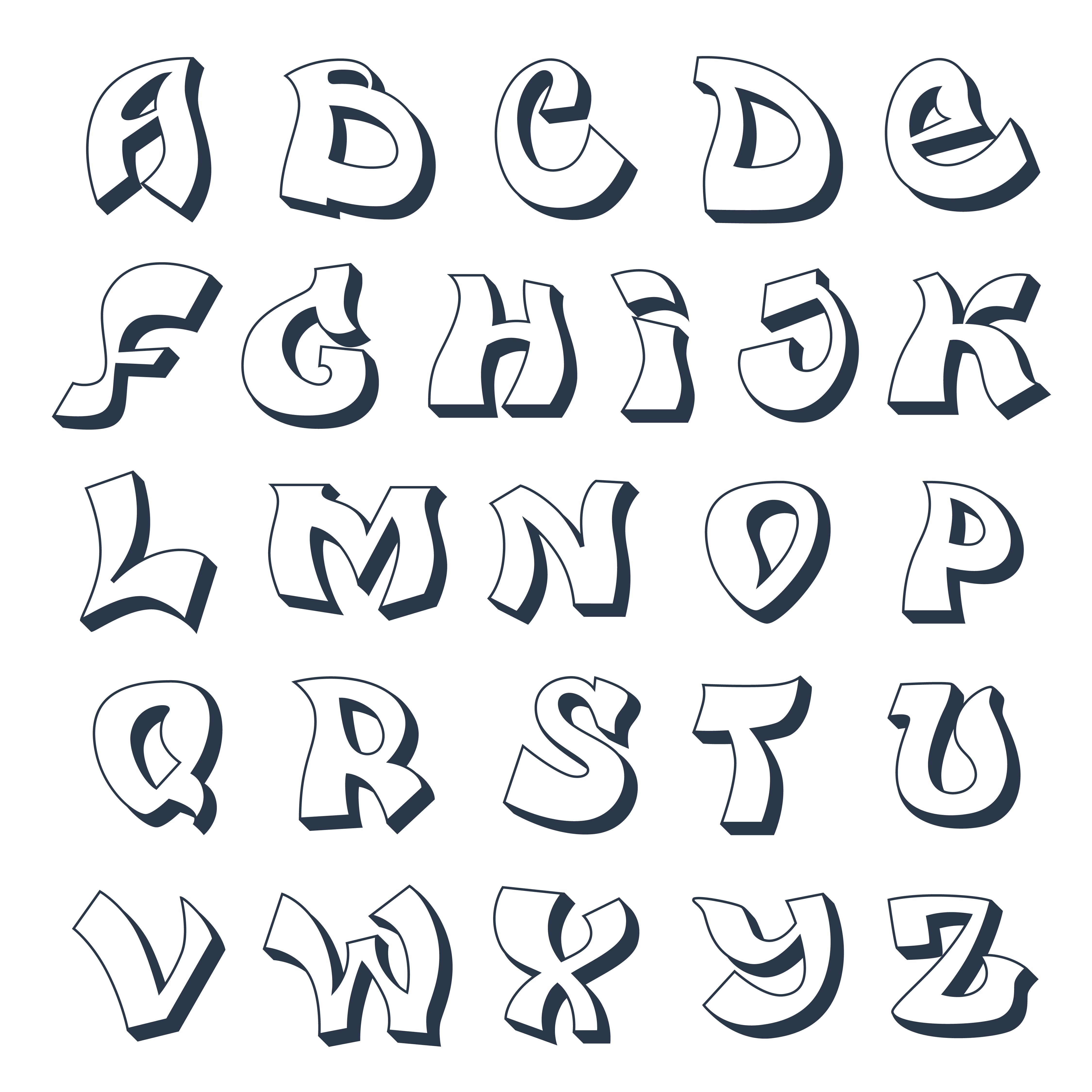 Graffiti Alphabet Vorlagen Graffiti Lettering 5