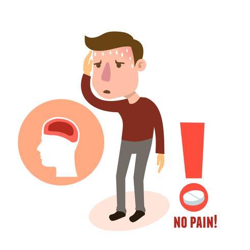 Mal de tête de caractère malade