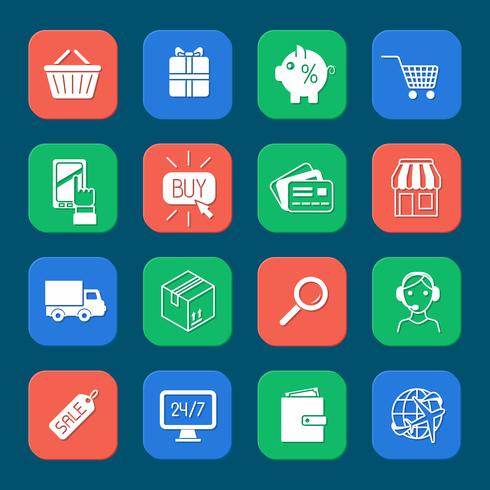Compras E-commerce Icons Set
