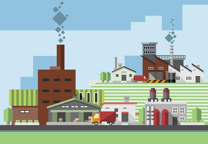 Bâtiments industriels plats