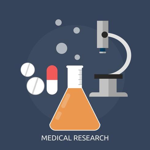 Investigación médica conceptual ilustración diseño. vector