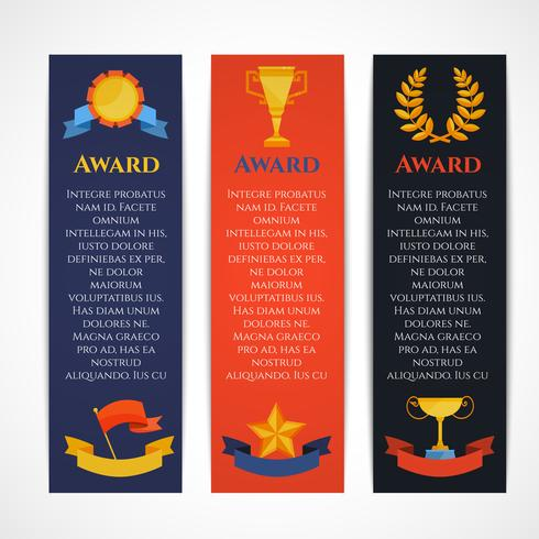 Award banner set vector