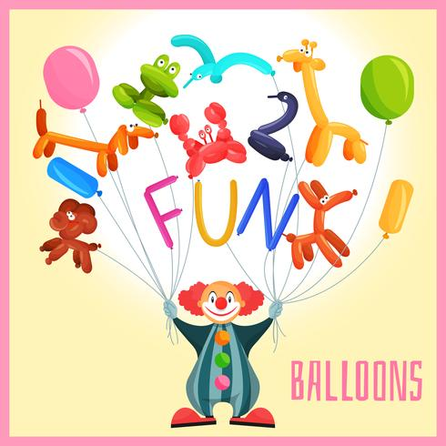 Clown mit Ballons