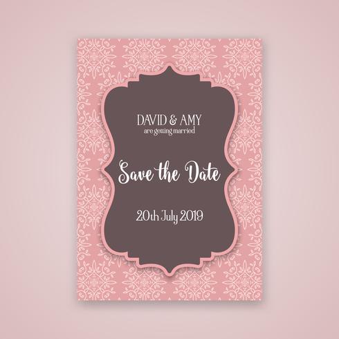 Decorativo salva il design dell'invito della data