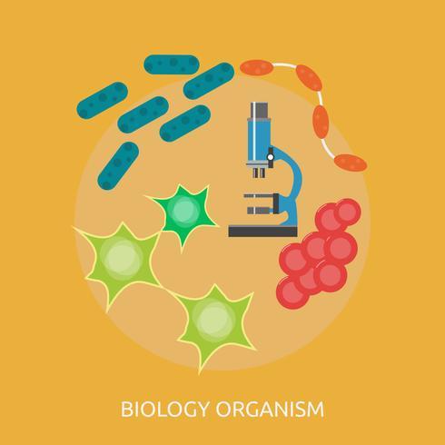 Biología Organismo Conceptual Ilustración Diseño vector