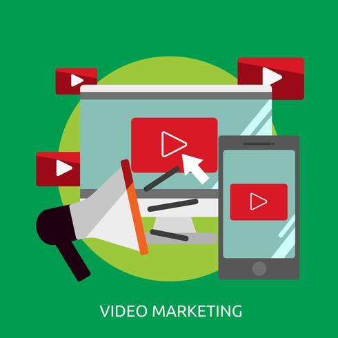 Video Marketing Conceptual Ilustración Diseño vector
