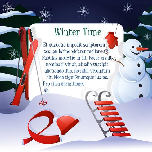 Winter Time Background