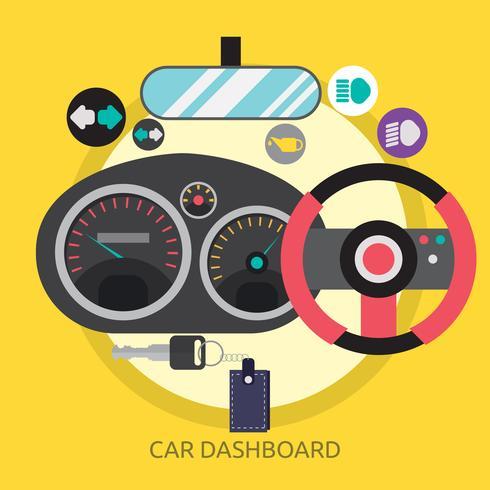 Salpicadero del coche Ilustración conceptual Diseño vector