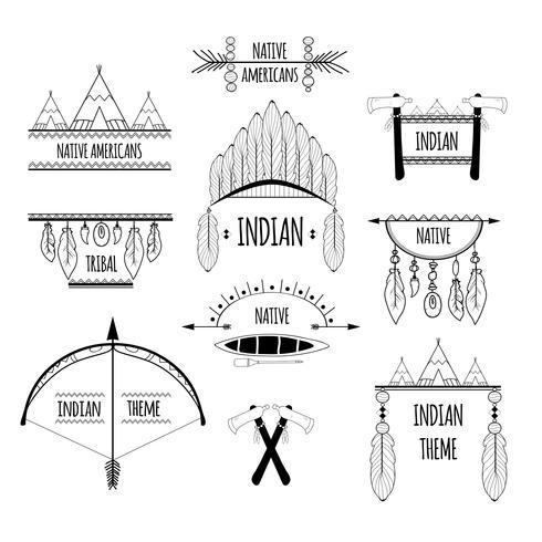 Conjunto de etiquetas tribales