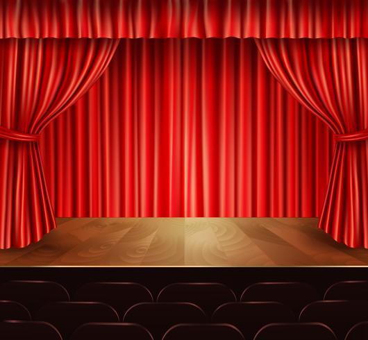 Fondo de escenario de teatro vector