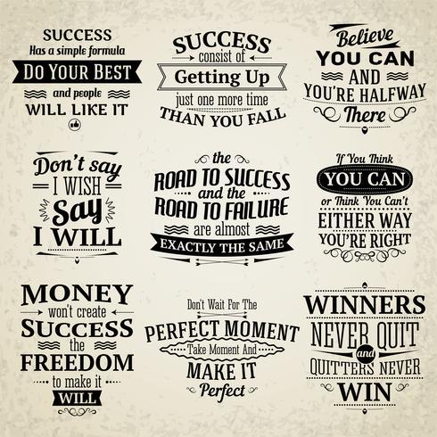 Set di citazioni di successo