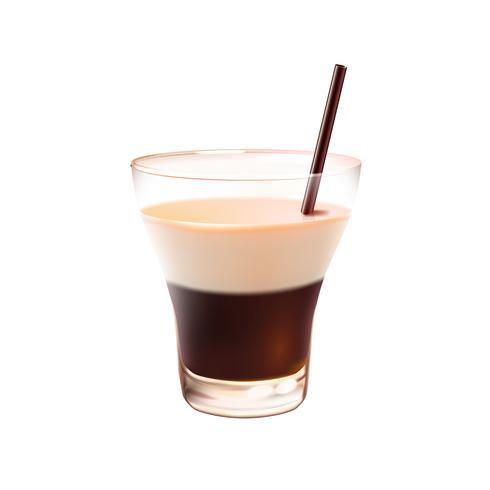 Cocktail russe blanc réaliste
