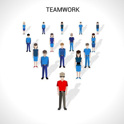 Teamwork Concept Illustratie