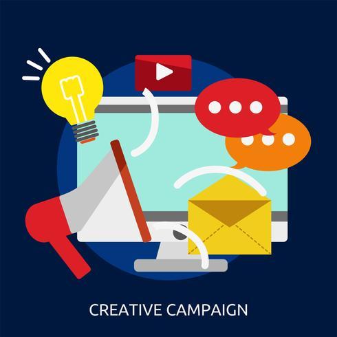 Campaña creativa conceptual ilustración diseño. vector