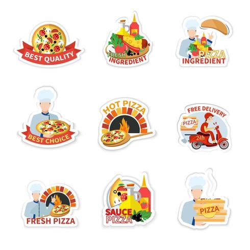 pizza etikett uppsättning