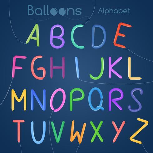 Balloons alphabet letters