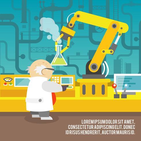 Concepto de brazo robótico vector