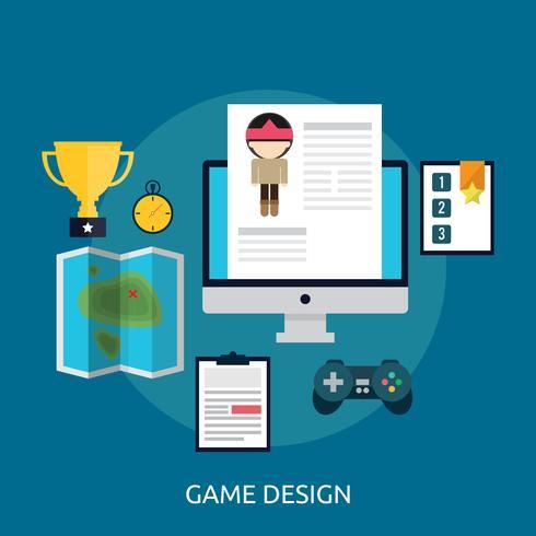 Diseño de juegos ilustración conceptual diseño vector