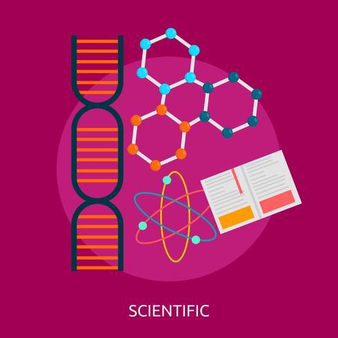 Vetenskaplig konceptuell illustration Design
