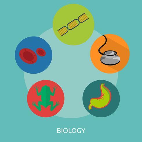Biología 2 Ilustración conceptual Diseño. vector