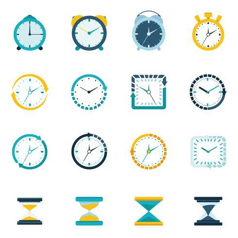 Icona piatta dell'orologio