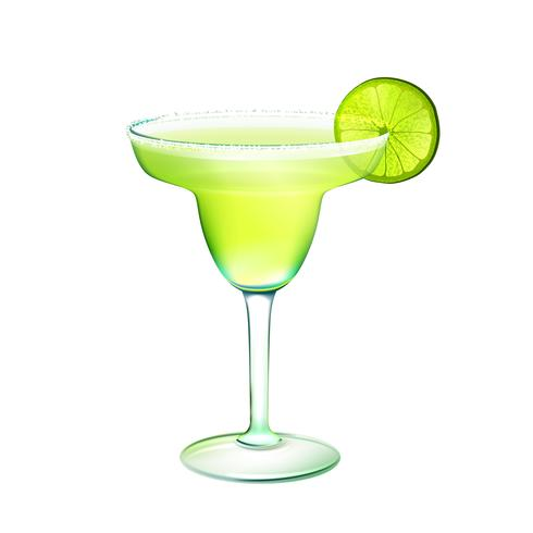 Margarita cocktail realistic vector