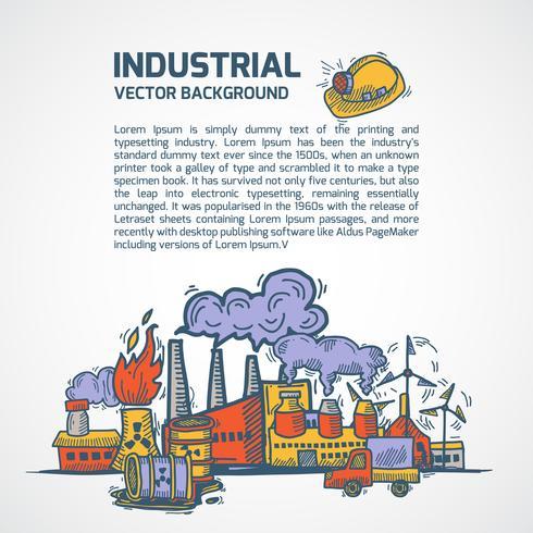 Fond de croquis industriel vecteur