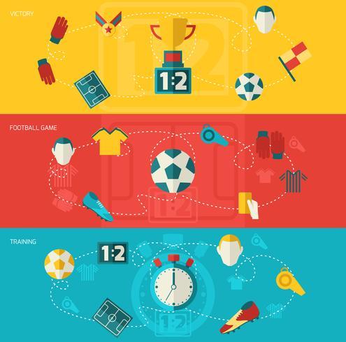 Voetbal pictogrammen plat