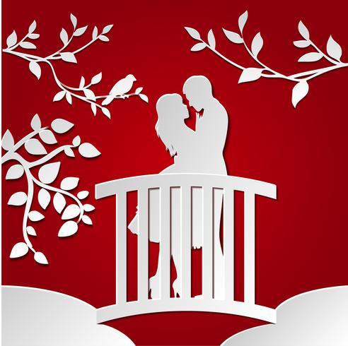 Paar auf der Brücke