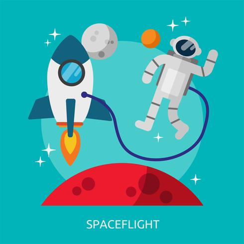 conception d'illustration conceptuelle de vol spatial
