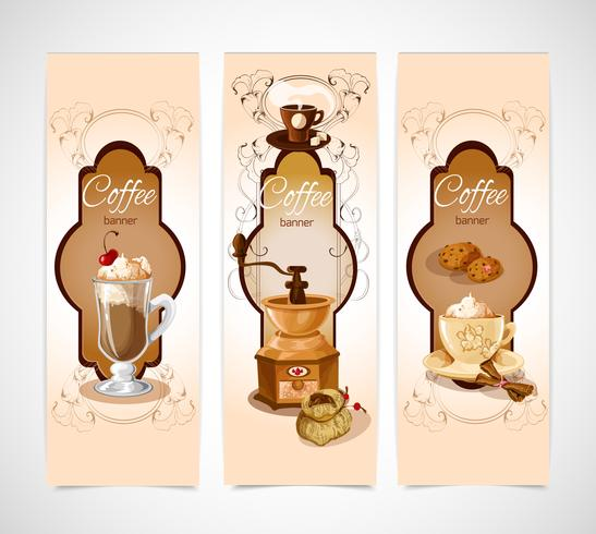 Coffee banners vertical vector