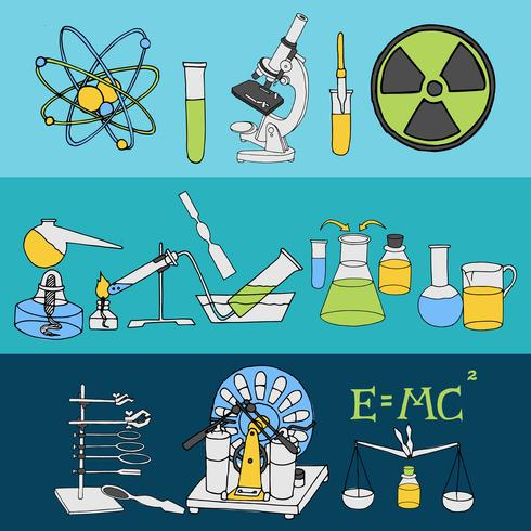 Science sketch banners