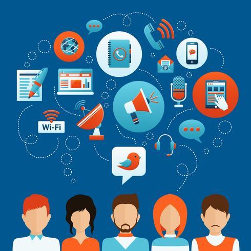 Concepto de comunicación de personas vector