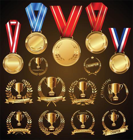 gyllene medalj vektor