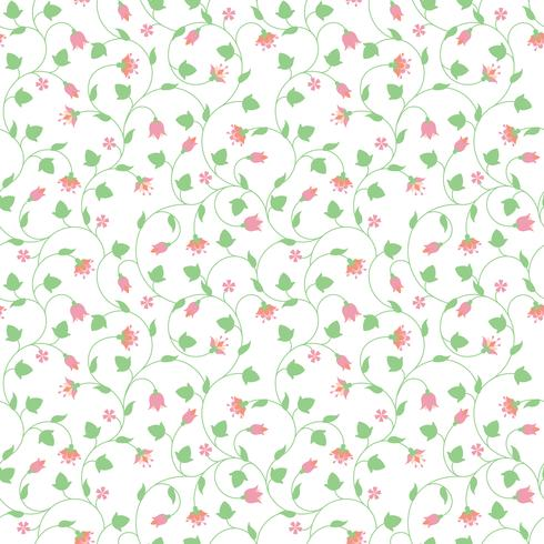 Patrón floral transparente con pequeñas flores de color rosa vector