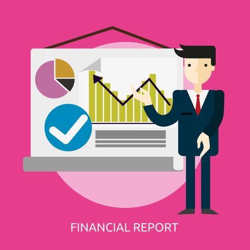 Informe Financiero Conceptual Ilustración Diseño vector