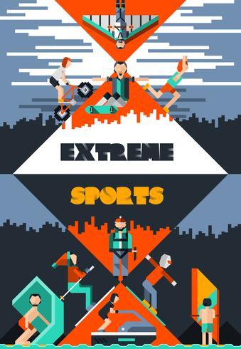Póster de deportes extremos