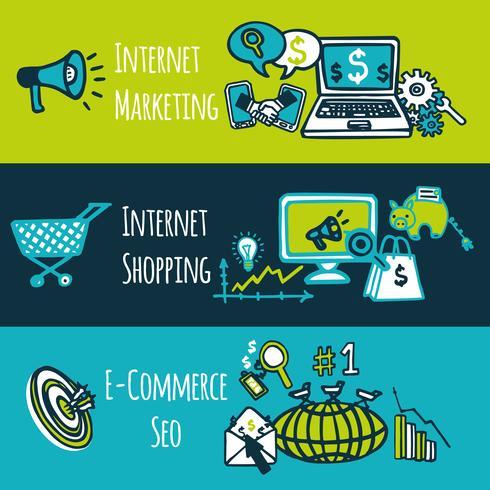 Conjunto de marketing de internet SEO