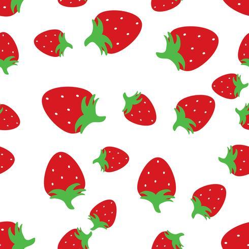 Fondo inconsútil del modelo con las fresas rojas. vector