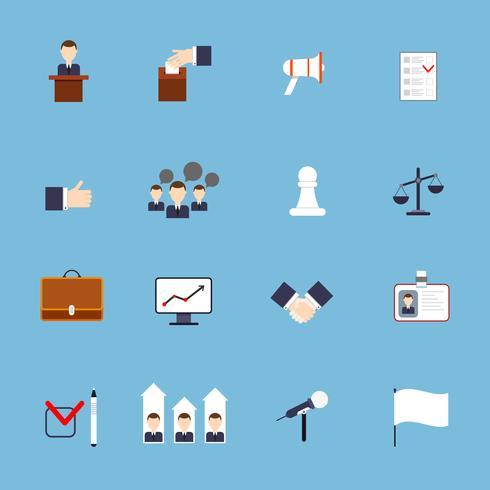 Verkiezingen pictogrammen instellen plat