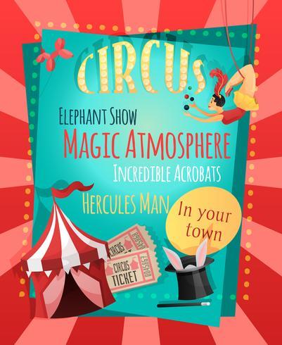 Cartel retro circo