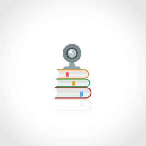 Icône d'éducation en ligne