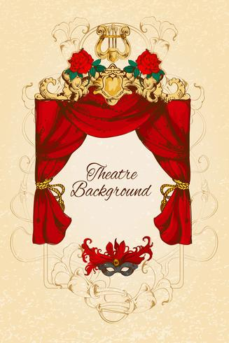Theatre sketch background vector