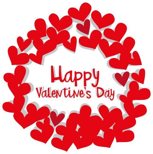 Modelo de cartão de dia dos namorados com moldura de coração