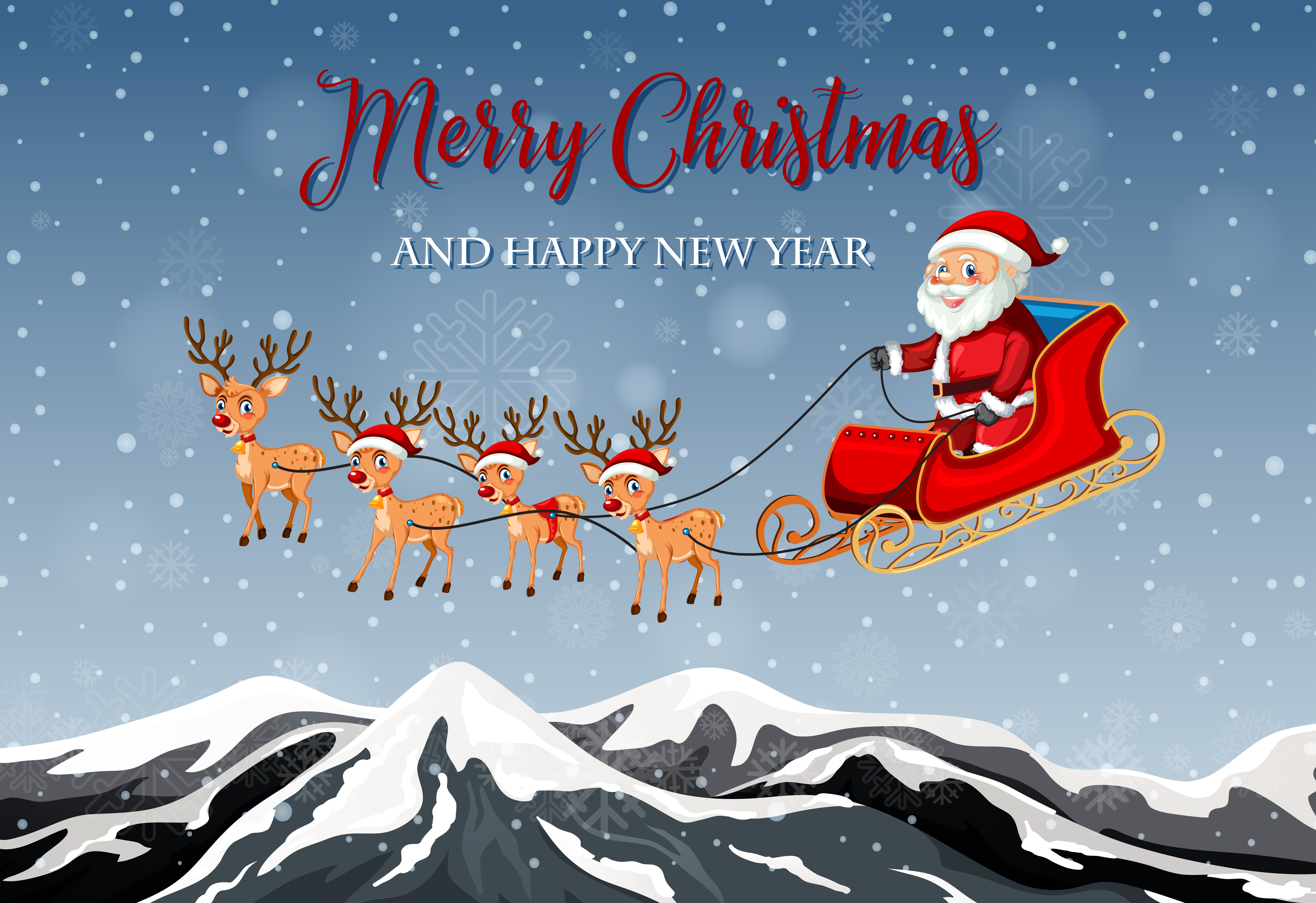 Merry christmas card template - Download Free Vectors ...