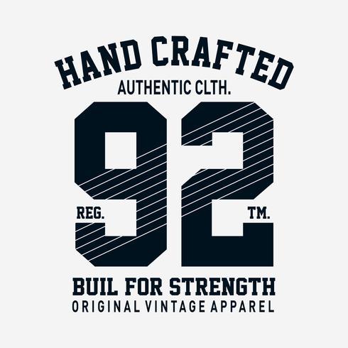 autentisk kläddesign för t-shirt